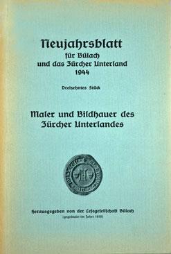 Neujahrsblatt Lesegesellschaft Bülach 1944