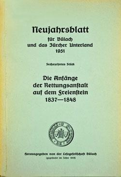 Neujahrsblatt Lesegesellschaft Bülach 1951