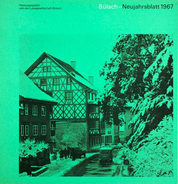 Neujahrsblatt Lesegesellschaft Bülach 1967